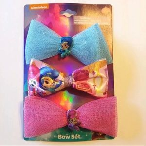 SHIMMER AND SHINE 3 LARGE BOW CLIP SET